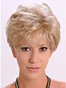 belle ondes courtes de cheveux synthetiques blonds perruques assez de stocks de haute qualite reelle