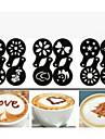12st plast infall kaffe utskrift modell minimalistisk design damning pad