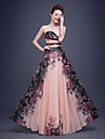 Formal Evening Dress-Pearl Pink A-line Sweetheart Floor-length Chiffon