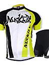 NUCKILY® Maillot et Cuissard de Cyclisme Unisexe Manches courtes VeloEtanche / Respirable / Resistant aux ultraviolets / Permeabilite a