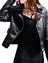 Women\'s Long Sleeve Evening/Career PU Leather Jacket