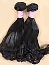Tissages de cheveux humains Cheveux Mongoliens Boucle 6 Mois 3 Pieces tissages de cheveux