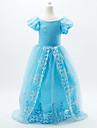 Fustă Costume Cosplay Prințesă Cinderella DinBasme Cosplay de Film Albastru Rochie Halloween Crăciun Carnaval An Nou Zuia CopiilorCopil