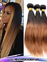 3pcs / lot 12-26inch brasilianska jungfru hår rakt hår ombre färgar 1b / 27 obearbetat människohår väver heta försäljning.