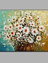 Peint a la main A fleurs/BotaniquePastoral Un Panneau Toile Peinture a l\'huile Hang-peint For Decoration d\'interieur