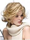 dame de la mode a court blonds boucles de couleur belles perruques