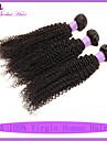 obearbetade brasilianska jungfru hår djupt lockigt 3st mycket brasilianska kinky lockigt jungfruligt hår väva