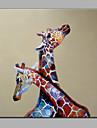 enda modern abstrakt ren handen rita dekorativa redo att hänga giraffen oljemålning