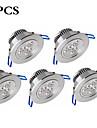 3W Inredningsglödlampa 3 Högeffekts-LED 300 lm Varmvit / Kallvit Dimbar / Dekorativ AC 100-240 V 5 st