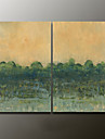 Hand-Painted Abstract Modern Oil Painting , Canvas Two Panels