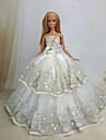 Fete / Soiree Robes Pour Poupee Barbie Blanc Robes Pour Fille de Doll Toy
