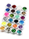 Nagellack UV Gel 8ml 24pcs Glitter Blöt off lång livslängd