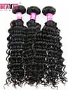 """3 st / lot 8 """"-30"""" 7a peruanska jungfru hår djup våg hårförlängningar 100% obearbetat remy människohår väver"""