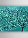 oljemålning pengar träd handen målade med sträckt inramade redo att hänga