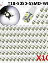 100 x bleu glace bleu rouge vert jaune blanc T10 rose / 921/912 interieur / License Plate cms ampoules 5050 5 LED