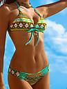 Femei Bikini Femei Cu Susținere Floral / Boho Fără Întăritură / Sutiene cu Bureți Polyester
