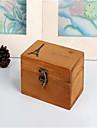 tappning trätorn box trä hantverk heminredningsförvaringslåda med lock