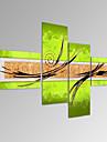 Peint a la main Abstrait Fantaisie Format Horizontal,Moderne Quatre Panneaux Toile Peinture a l\'huile Hang-peint For Decoration