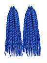 12-24inch havana mambo twist fläta hår syntetisk blå Kanekalon kinky marley vändningar fläta hårförlängning