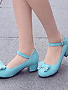 Women\'s Shoes Heel Heels / Pointed Toe Heels Office & Career / Dress / Casual Blue / Pink / Purple / Beige