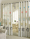 Two Panel European Style Cotton And Linen Printed Children Cute Cartoon Curtains
