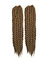 #27 havana twist Flätor Hårförlängningar 22-24inch Kanekalon 2 Strå 80g/pcs gram Hair Braids
