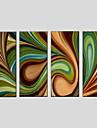 HANDMÅLAD AbstraktModerna / Klassisk / Traditionellt / Parfymerad / Europeisk Stil Fyra paneler Kanvas Hang målad oljemålning For