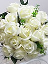 """Wedding Flowers Round Roses Bouquets Wedding Party/ Evening Satin 9.84""""(Approx.25cm)"""