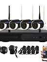 yanse® wifi IP-kamera NVR kit 720p CCTV-kameror videcam inomhus vattentät ir säkerhet kameran självförsvar säkerhet
