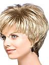 courte couleur blonds boucles cheveux synthetiques chaude femmes europeennes dame