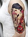 autocollants sexy grandes fleurs de bras faux transfert du corps de tatouages temporaires impermeable a l\'eau