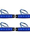 4PZ sida lampa 6 ledde blå 12v vattentät med linbana lastbil delar
