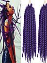 varm försäljning av god kvalitet havana twist fläta syntetiskt hår virka fläta lila färg fläta twist afro lockigt