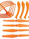 SYMA X8G X8W X8c SYMA Helices Trains d\'Atterrissage Protege helice Pieces & Accessoires RC Quadri rotor Drones Orange 12PCS