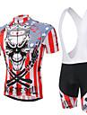 XINTOWN® Cykeltröja med Bib-shorts Unisex Kort ärm CykelAndningsfunktion / Snabb tork / Ultraviolet Resistant / Begränsar bakterier /