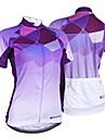 NUCKILY® Maillot de Cyclisme Femme Manches courtes VeloRespirable / Resistant aux ultraviolets / Permeabilite a l\'humidite / Sac de