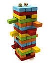 trä färgstarka block pusselspel domino brädspel Brain Games