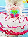 Chien Robe Rouge / Jaune / Incanardin Vetements pour Chien Printemps/Automne Noeud papillon / Fruit Mode