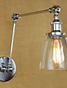 AC 100-240 40 E26/E27 Rustik Krom Särdrag for Glödlampa inkluderad,Stämningsljus Svängarmsbelysning vägg~~POS=TRUNC