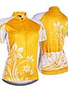 NUCKILY® Cykeltröja Dam Kort ärm CykelAndningsfunktion UV-Resistent Fuktgenomtränglighet Inbyggd Vattenkokare Väska Bärbar Åtsmitande