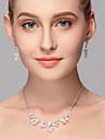 Set bijuterii Pentru femei Aniversare / Nuntă / Logodnă / Zi de Naștere / Cadou / Petrecere / Zilnic / Ocazie specială Set Bijuterii Ștras