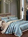 Fleur Ensembles housse de couette 4 Pieces Coton Luxe Jacquard Coton Lit 2 Places \'Queen\' Lit 2 Places \'King\'1 pieces (1 housse de