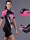 CHEJI® Cykeltröja med shorts Dam Kort ärm Cykel Andningsfunktion / Snabb tork / Ultraviolet Resistant / 3D Pad / Begränsar bakterierArm