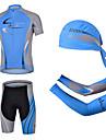 CHEJI® Maillot et Cuissard de Cyclisme Homme Manches courtes VeloRespirable / Sechage rapide / Resistant aux ultraviolets / La peau 3