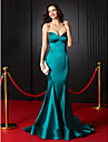 Formal Evening Dress Trumpet / Mermaid Sweetheart Court Train Stretch Satin with