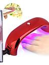 ongles conduit arc de lampe de phototherapie lampe de phototherapie colle de cuisson 9w ++ 1cuticle d\'huile revitalisant