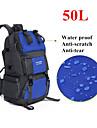 50L L Backpacker-ryggsäckar Camping / Fiske / Klättring / Jakt / Resa / Nödsituation / Cykling UtomhusVattentät / Snabb tork / Inbyggd