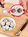 1pcs inoxydable creme glacee en acier outils de cuisine a double cuillere cuillere a melon coupe de fruits