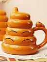 1st kreativa fantasier guld poop cup två tusen keramiska personlighet kopp (random stil)