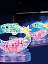 Pussel 3D-pussel / Kristallpussel Byggblock DIY leksaker Fisk 45pcs ABS Modell- och byggleksak